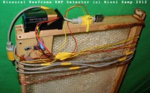 Binaural Beeframe EMF Detector (c) Bioni Samp 2011